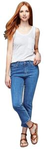Gap 1969 Cropped Cotton Crop Blue Capri/Cropped Denim-Medium Wash