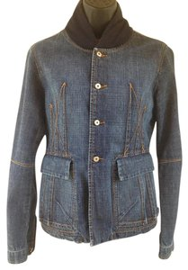 Marithé et François Girbaud Denim Denim Blue Womens Jean Jacket