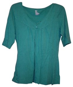 Gap Leisure Soft Comfortable T Shirt Green