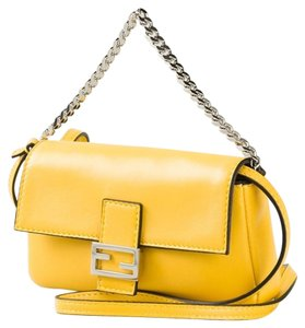 Fendi Micro-mini Leather Baguette