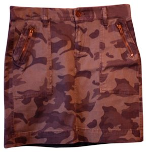 Old Navy Camo Zipper Pockets Cargo Skirt Camoflauge