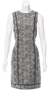 ADAM short dress Black/White Tweed Sleeveless Shift Black Work on Tradesy