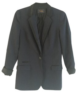 Buckley Tailors Wool Suiting Navy & Black Blazer