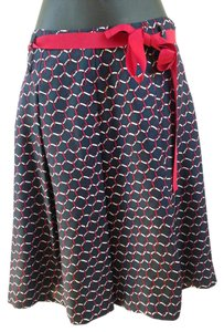 Talbots Skirt Navy, red