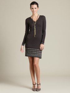 M Missoni short dress Brown Sweater Knit Knee-length Long Sleeves on Tradesy