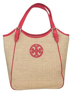 Tory Burch Tote in Natural/Coral