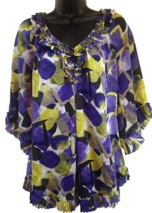 Alfani Top Purple, green