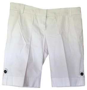 MNG Suit Cuffed Shorts White