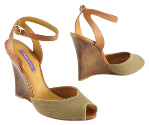 Ralph Lauren Collection Rl Wanda Ii Wedges Olive Sandals
