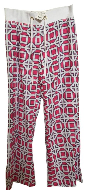 All for color Relaxed Pants Pink, white, & blue Image 0