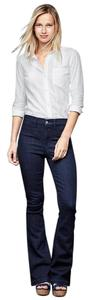 Gap 1969 Cotton Blend Stretch Flare Leg Jeans-Dark Rinse