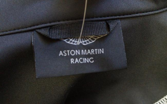 Aston Martin Racing Ladies Gray Polyester Windproof Zip Up Small Charcoal Jacket