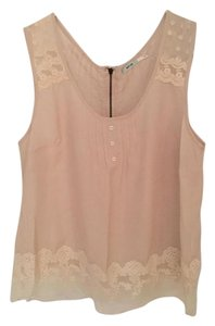 Urban Outfitters Lace Kimchi Blue Top Cream