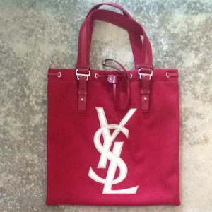 Saint Laurent Tote in Red/Gold
