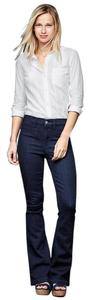 Gap 1969 Cotton Blend Denim Flare Leg Jeans-Dark Rinse