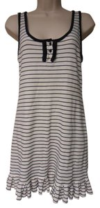 Juicy Couture short dress off-white & navy blue Sleeveless Cover Up on Tradesy