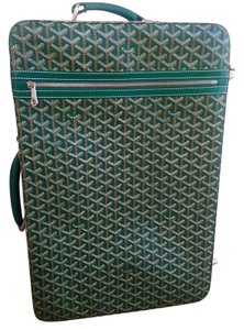 Goyard Rare Carryon Suitcase Green Travel Bag