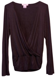 White House | Black Market Wrap Shirt Classic Timeless Chic Top Black