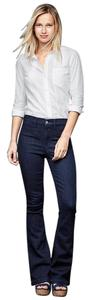 Gap 1969 Denim Long Flare Leg Jeans-Dark Rinse