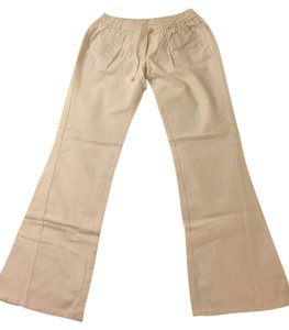 Roxy Linen Drawstring Relaxed Pants White