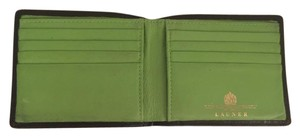 Launer London Launer London Black Calf / Green Lamb Bifold Wallet.