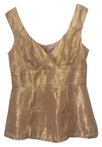 Nanette Lepore Brand-new Silk Top Gold
