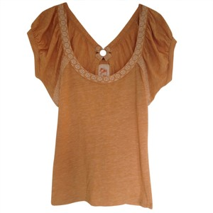 Anthropologie Top Gold
