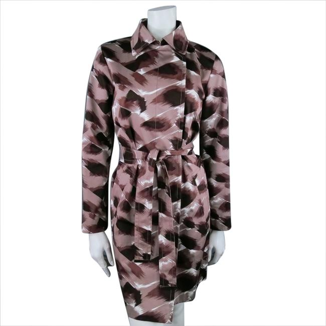 Gucci Belted Abstract Printed Artdeco Trench Coat