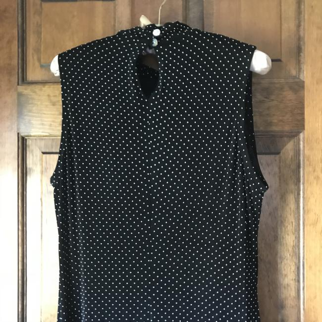Black w/White Dots Maxi Dress by Coldwater Creek Sleeveless Traveler Knit Comfortable Extra Buttons Maxi Image 10
