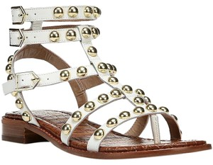 Sam Edelman Stud Gladiator white Sandals