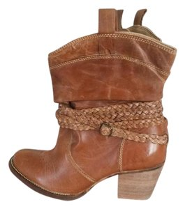 Dingo Cowboy Slouch Leather Western tan/brown Boots