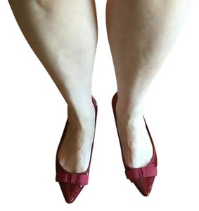 Kelly & Katie Patent Leather Modern Burgundy Flats