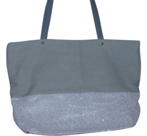 deux lux Tote in White/white wash blue