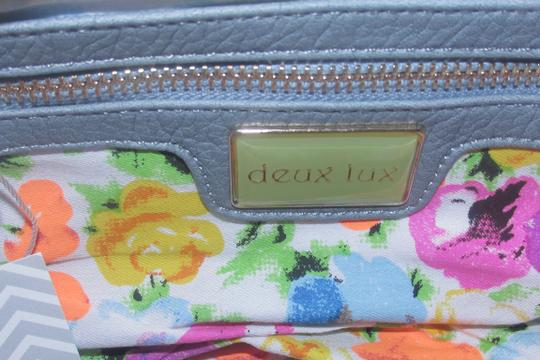 deux lux Tote in White/white wash blue Image 1