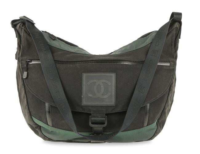 Item - Extra Large Black Canvas Messenger Bag