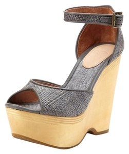 Joie Weber Wedge Clog (wood 41 Rafia Dove Grey Platforms