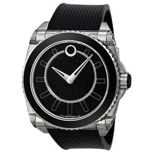 Movado Movado Master Automatic Black Dial Stainless Steel Mens Watch 0606295