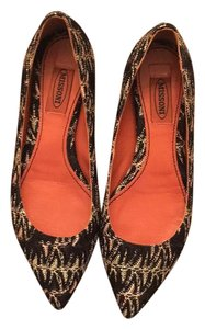 Missoni Black/gold/beige Flats