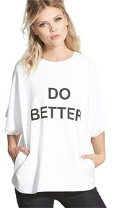 bmla Graphic Oversized Oversize Do Better White Sweatshirt