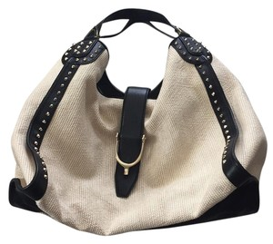 Gucci Satchel in Natural Straw And Black
