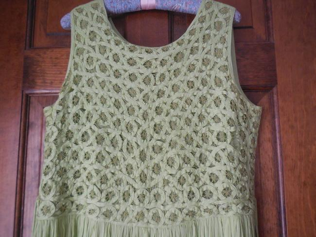 Green Maxi Dress by Coldwater Creek Petite Sundress Maxi Sleeveless Shoelace Ties Image 1