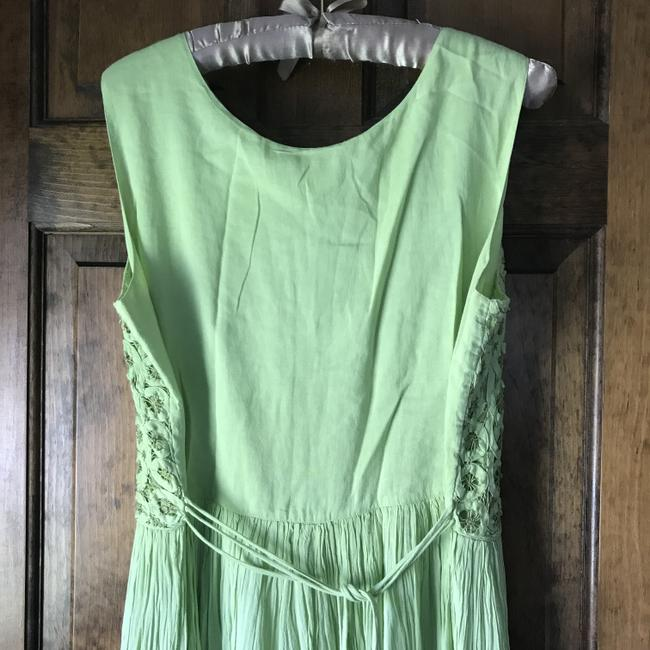Green Maxi Dress by Coldwater Creek Petite Sundress Maxi Sleeveless Shoelace Ties Image 10