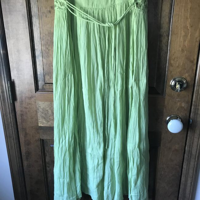 Green Maxi Dress by Coldwater Creek Petite Sundress Maxi Sleeveless Shoelace Ties Image 11