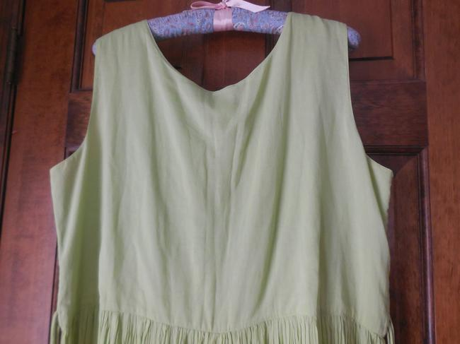 Green Maxi Dress by Coldwater Creek Petite Sundress Maxi Sleeveless Shoelace Ties Image 3