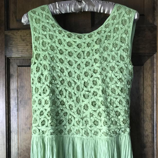 Green Maxi Dress by Coldwater Creek Petite Sundress Maxi Sleeveless Shoelace Ties Image 7