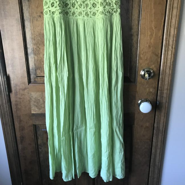 Green Maxi Dress by Coldwater Creek Petite Sundress Maxi Sleeveless Shoelace Ties Image 8