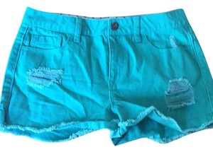Forever 21 Cut Off Shorts Teal turquoise green