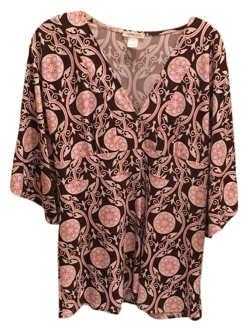 Preload https://img-static.tradesy.com/item/17965120/pink-and-brown-o-tunic-size-12-l-0-1-650-650.jpg