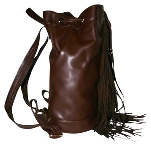 deux lux Crossbody Bucket Soft Fringe Hem Boho Backpack
