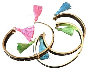 Lilly Pulitzer Lilly Pulitzer 3 Gold Cuff Bracelets w/ Fringe Tassels